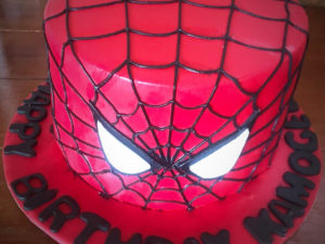 7 Inch Box Spiderman Cake